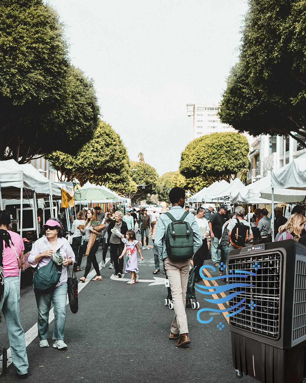 outdoor event or markets